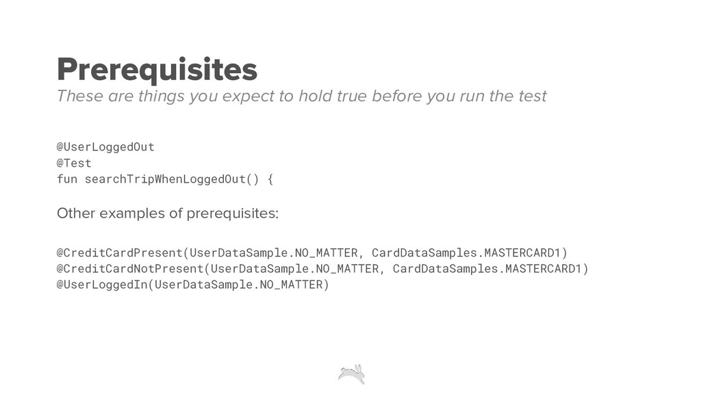 Prerequisites @UserLoggedOut @Test fun searchTr...