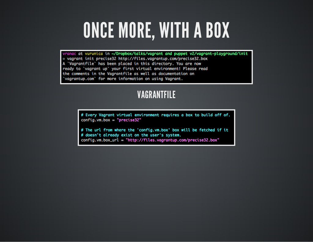 ONCE MORE, WITH A BOX VAGRANTFILE