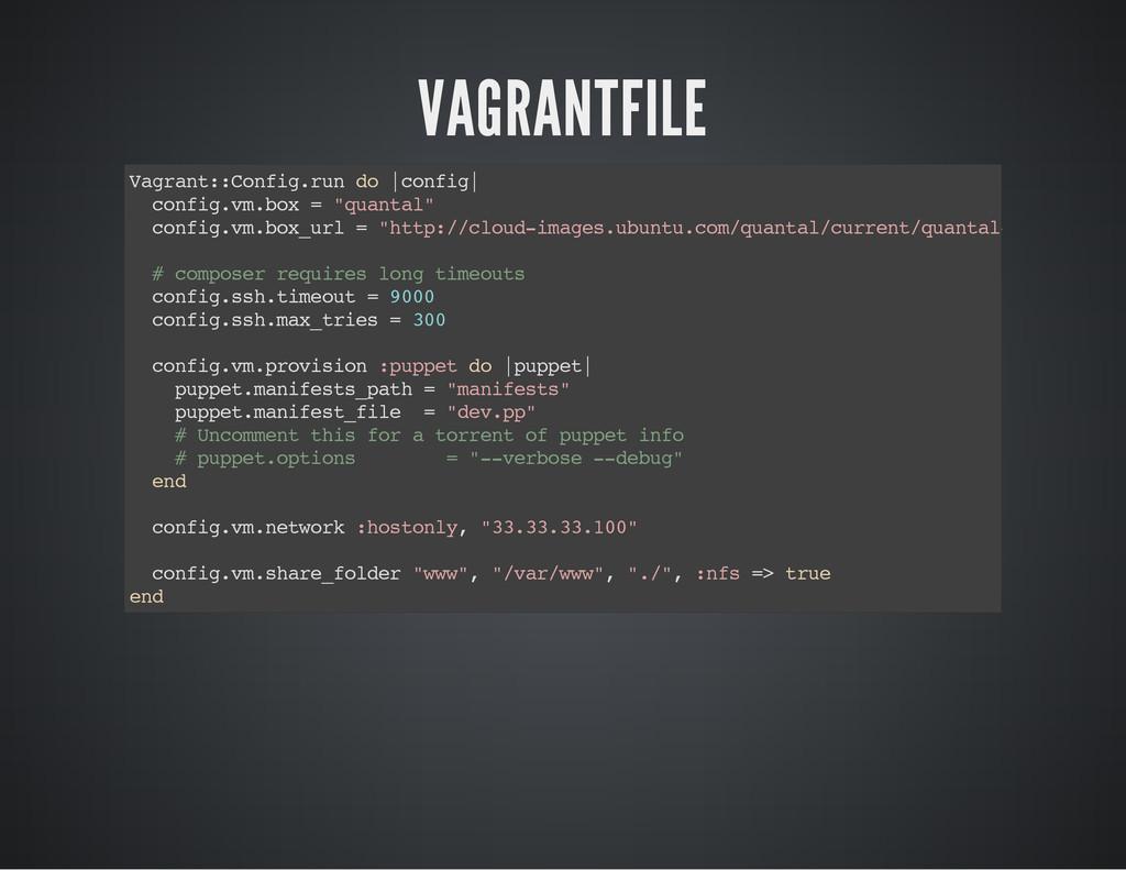 VAGRANTFILE V a g r a n t : : C o n f i g . r u...