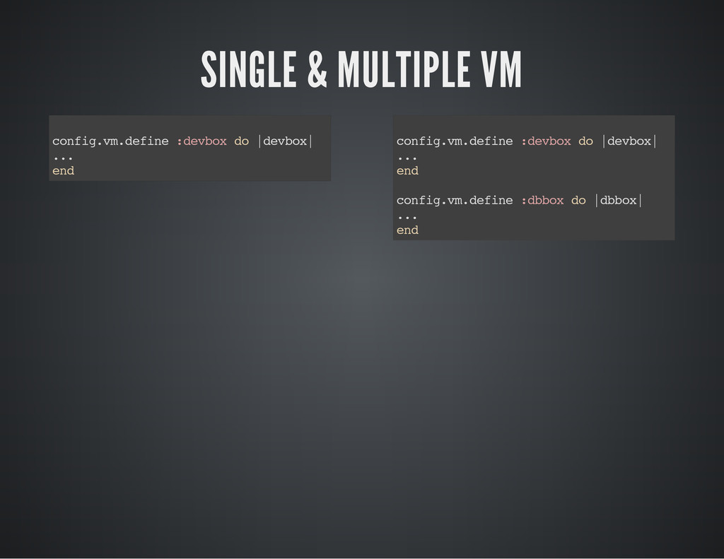 SINGLE & MULTIPLE VM c o n f i g . v m . d e f ...