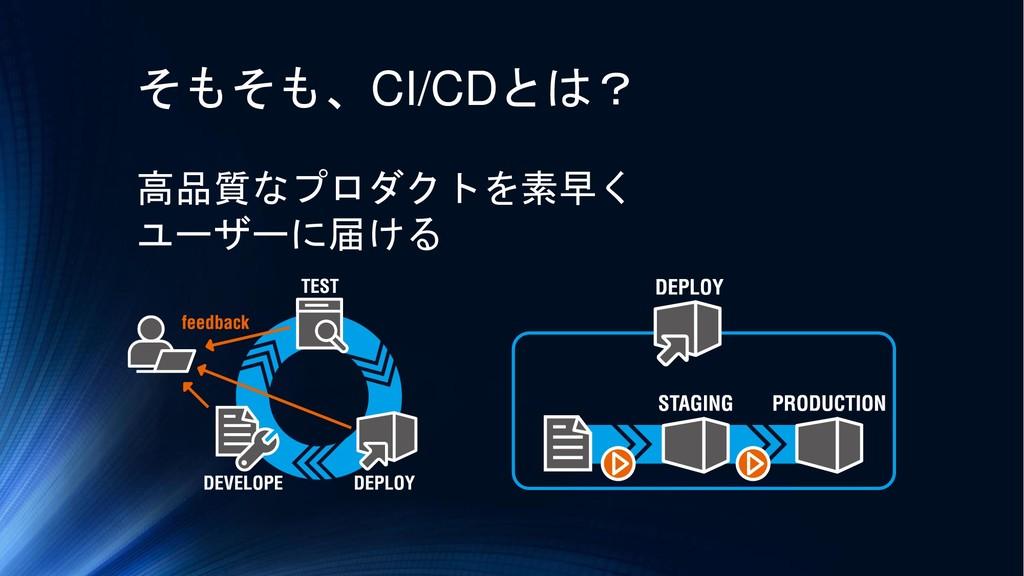 そもそも、CI/CDとは? 高品質なプロダクトを素早く ユーザーに届ける