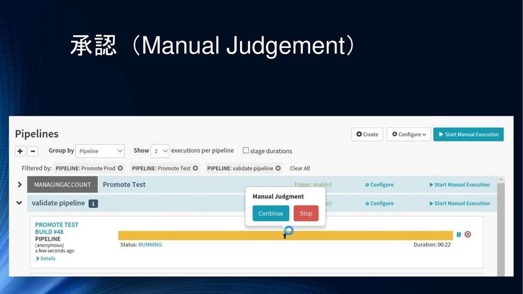 承認(Manual Judgement)