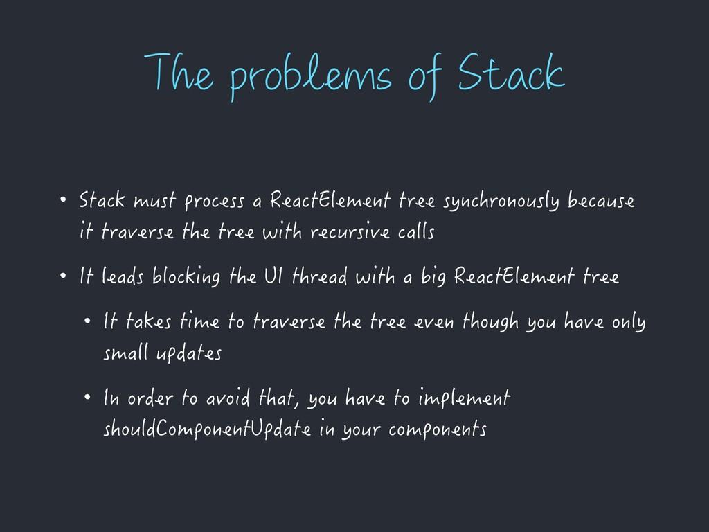 5IFQSPCMFNTPG4UBDL • Stack must process a Re...