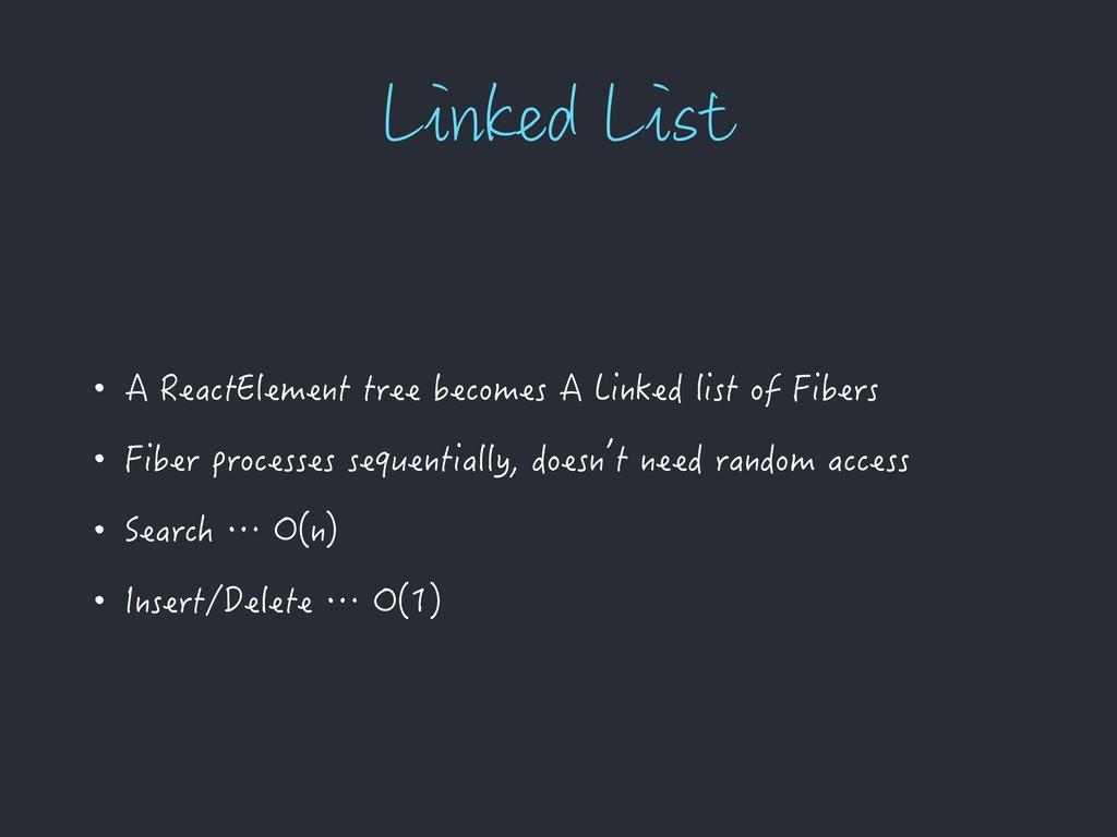 -JOLFE-JTU • A ReactElement tree becomes A Lin...