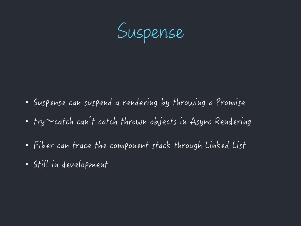 4VTQFOTF • Suspense can suspend a rendering by ...
