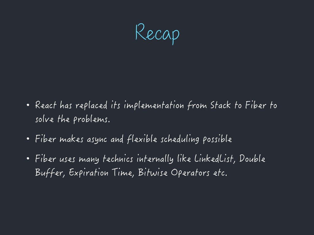 3FDBQ • React has replaced its implementation f...