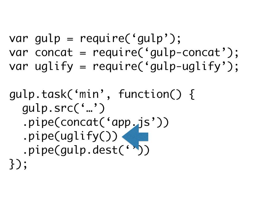 var gulp = require('gulp'); var concat = requir...