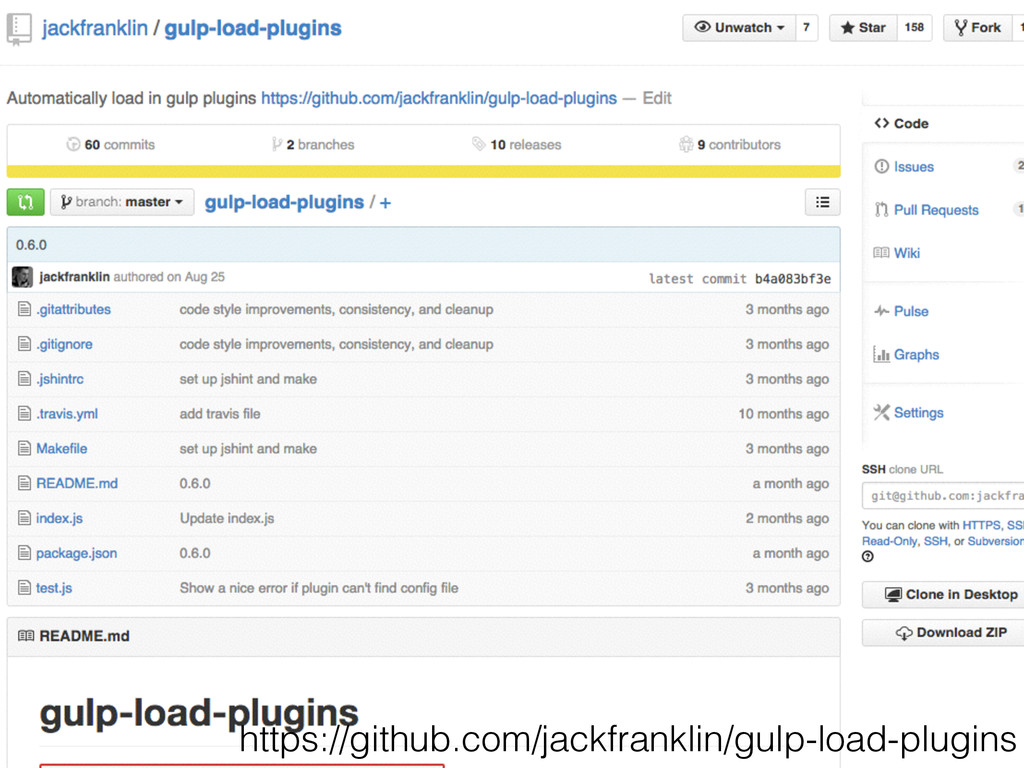 https://github.com/jackfranklin/gulp-load-plugi...