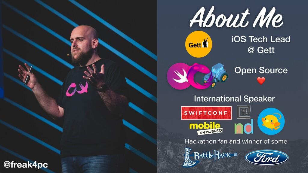 iOS Tech Lead @ Gett Open Source ❤ Hackathon fa...