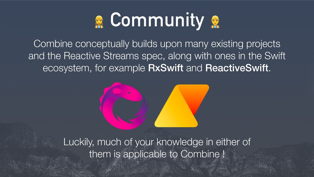 > Community = Combine conceptually builds upon ...