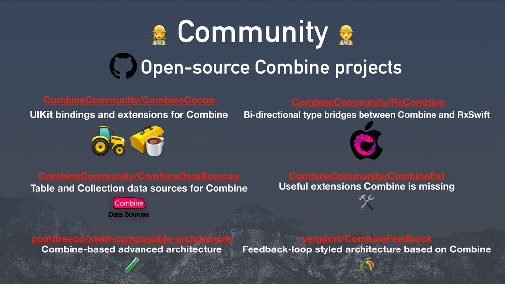 Open-source Combine projects > Community = Comb...