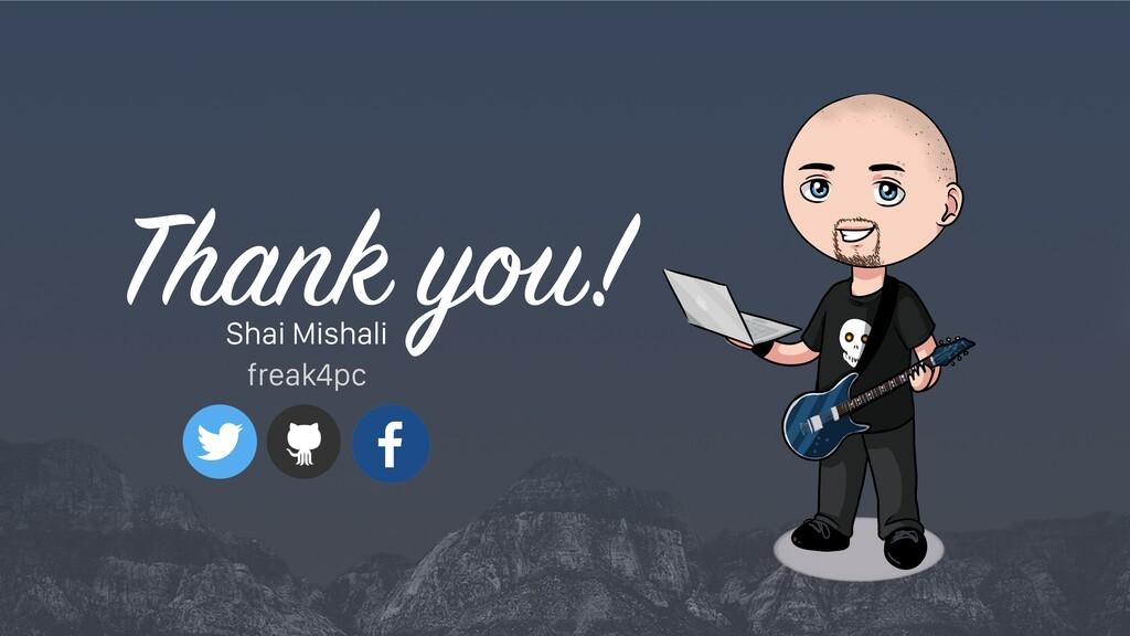 Shai Mishali freak4pc Thank y !