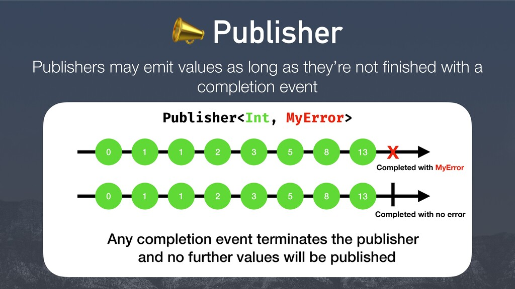Publishers may emit values as long as they're n...
