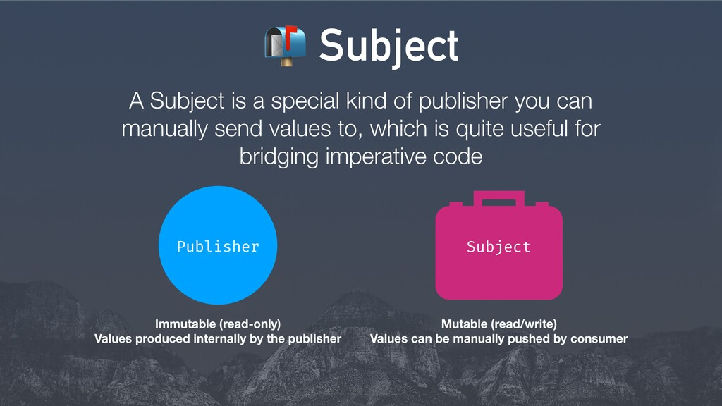 A Subject is a special kind of publisher you ca...