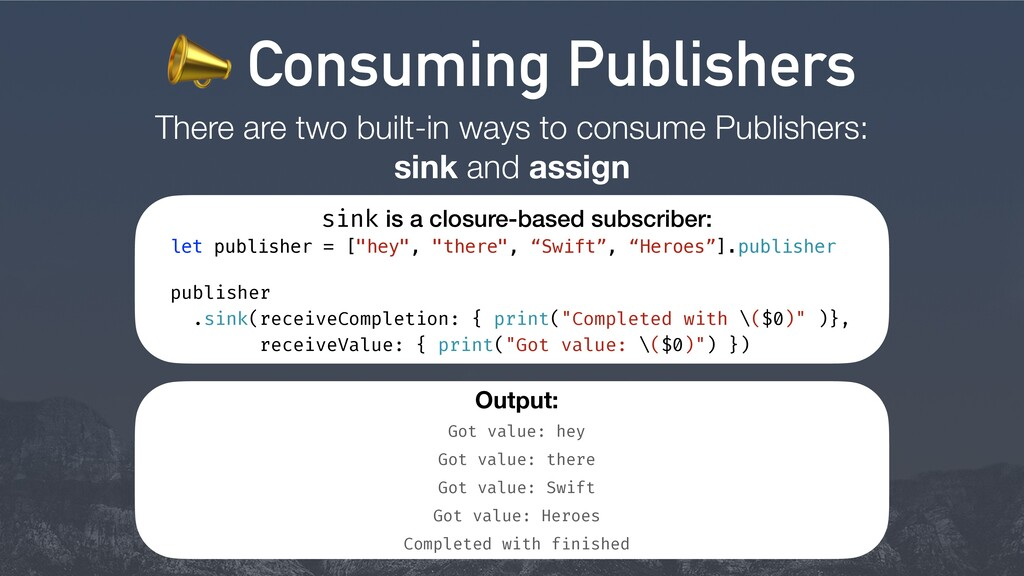 There are two built-in ways to consume Publishe...