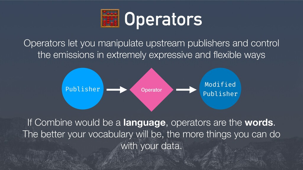 8 Operators If Combine would be a language, ope...