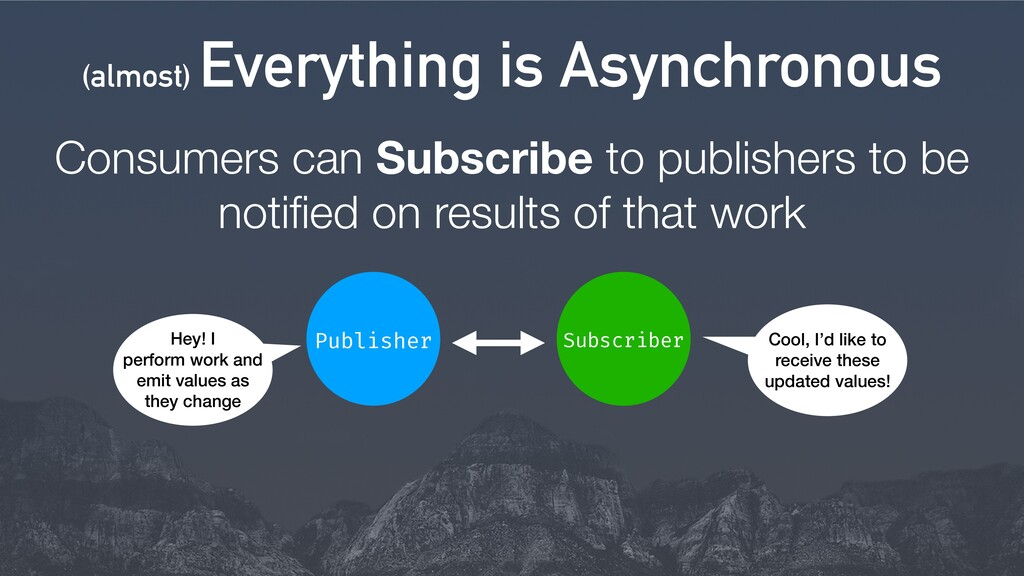 (almost) Everything is Asynchronous Consumers c...
