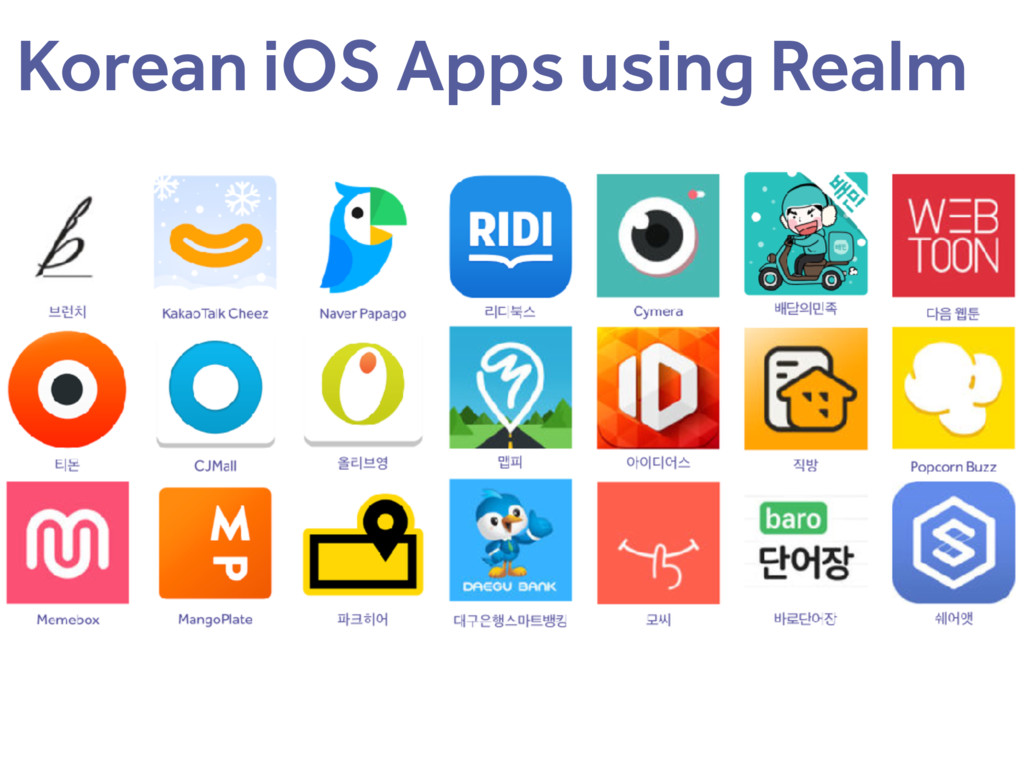 Korean iOS Apps using Realm