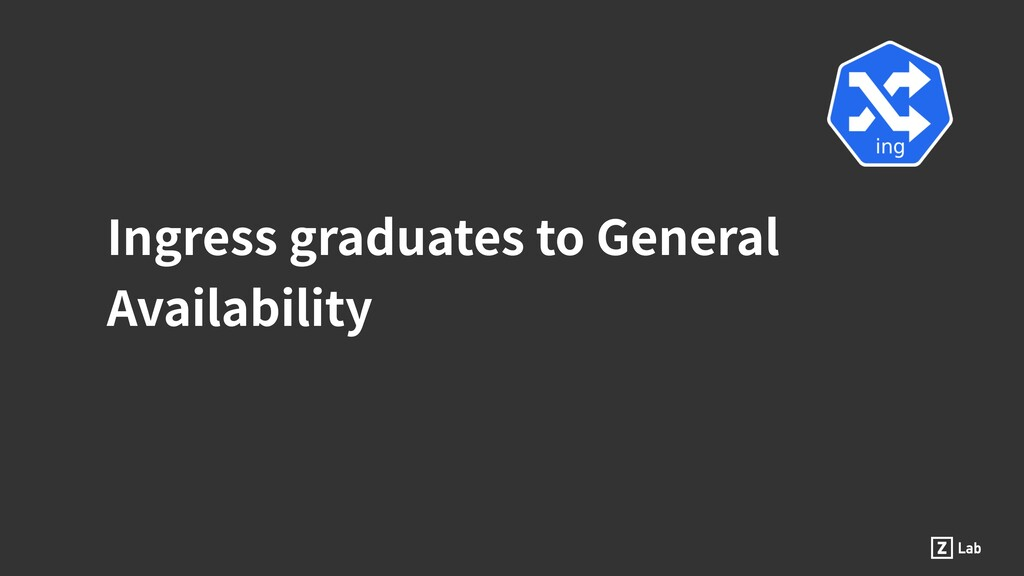 Ingress graduates to General Availability