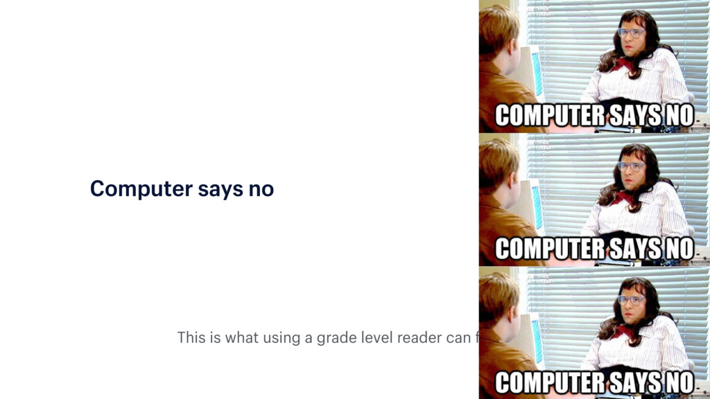 This is what using a grade level reader can fee...