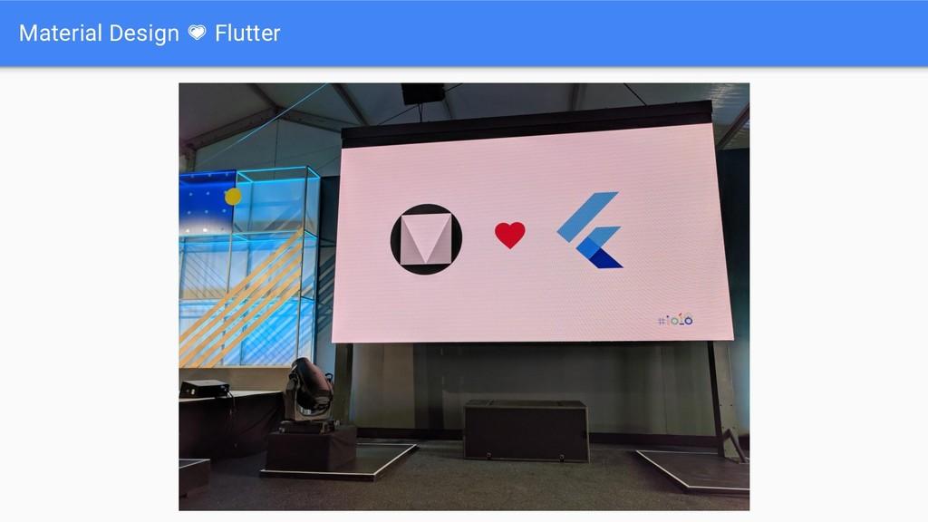 Material Design Flutter