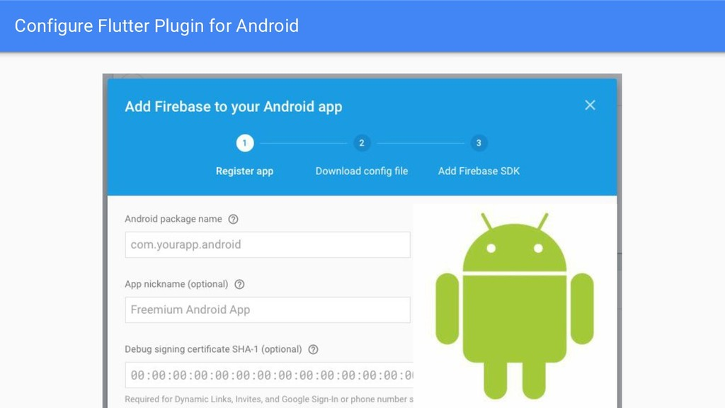 Configure Flutter Plugin for Android