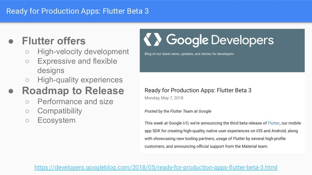 Ready for Production Apps: Flutter Beta 3 https...