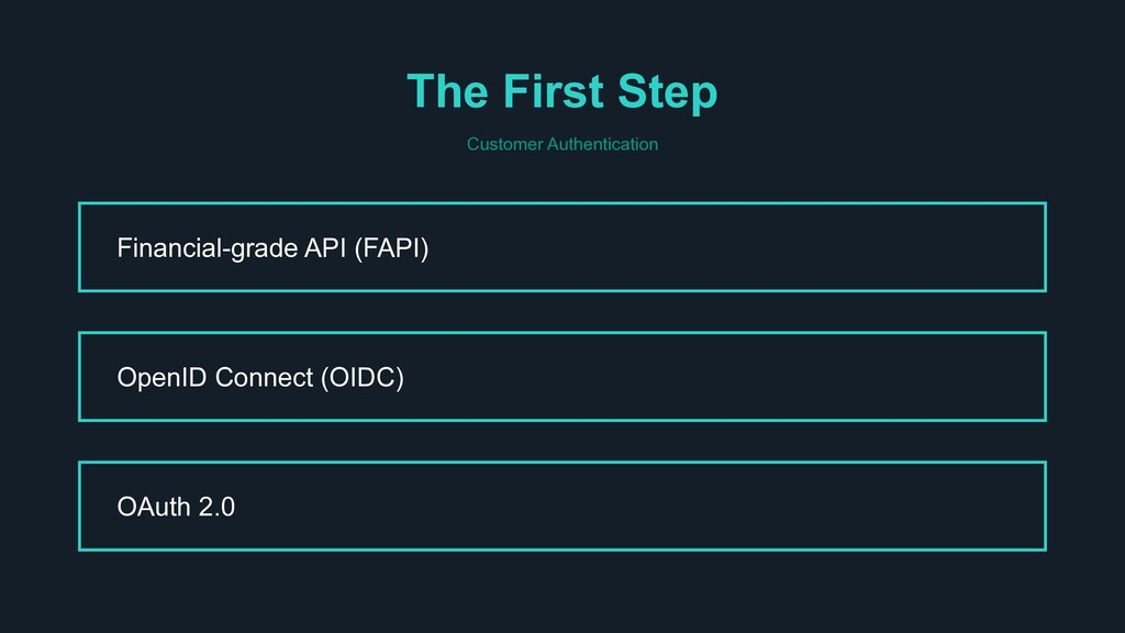 The First Step Customer Authentication Financia...