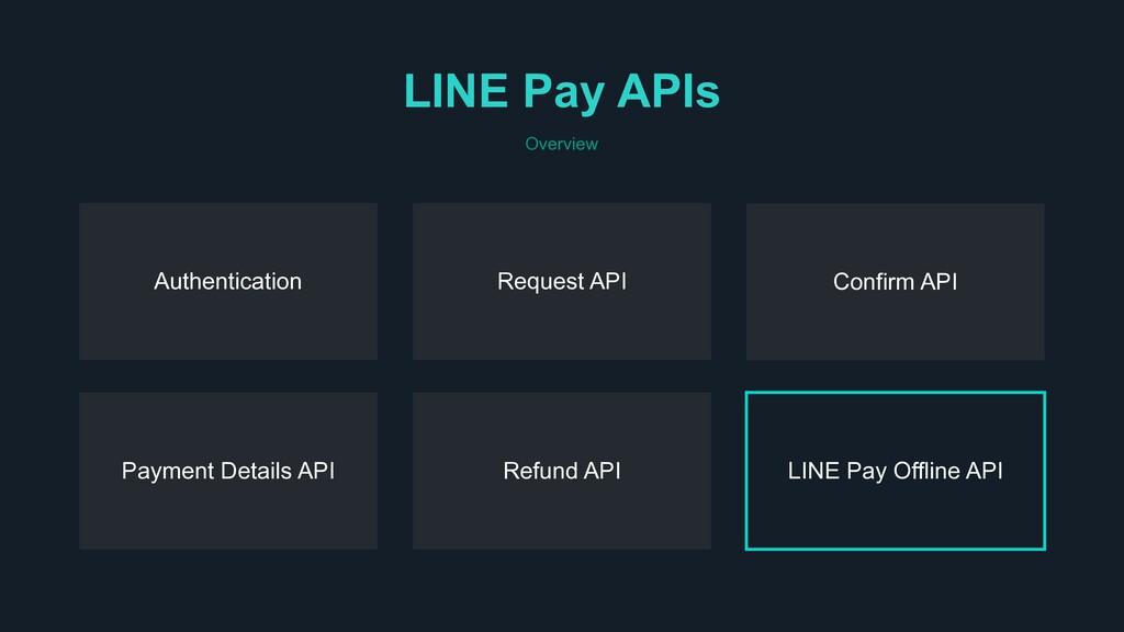 Authentication Request API LINE Pay Offline API...