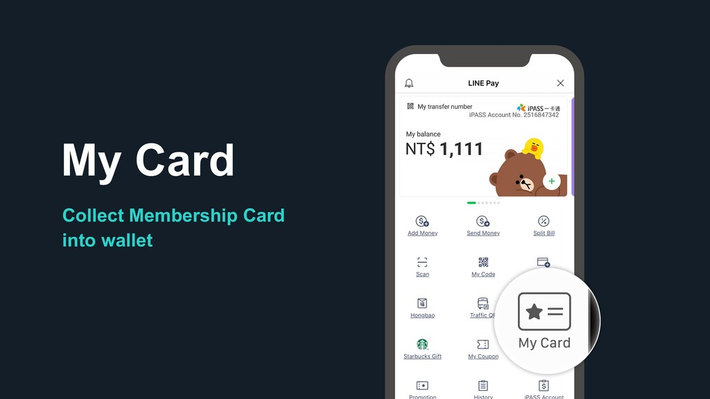 Collect Membership Card into wallet My Card