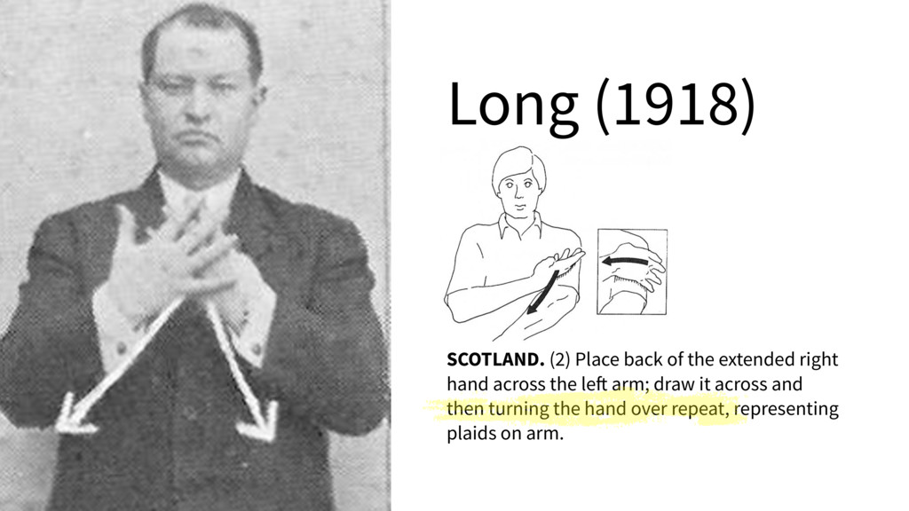 """Long (1918) SCOTLAND. Bring the """"5"""" hands up in..."""