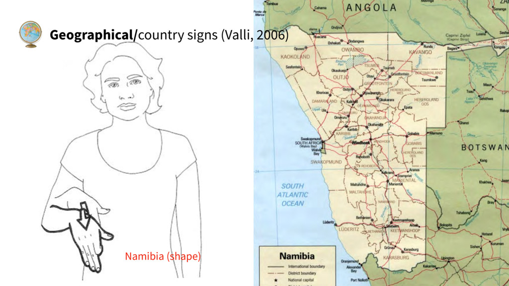 Geographical/country signs (Valli, 2006) Namibi...