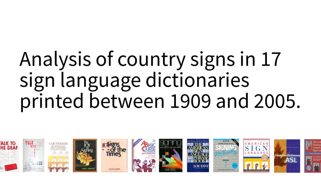 Analysis of country signs in 17 sign language d...