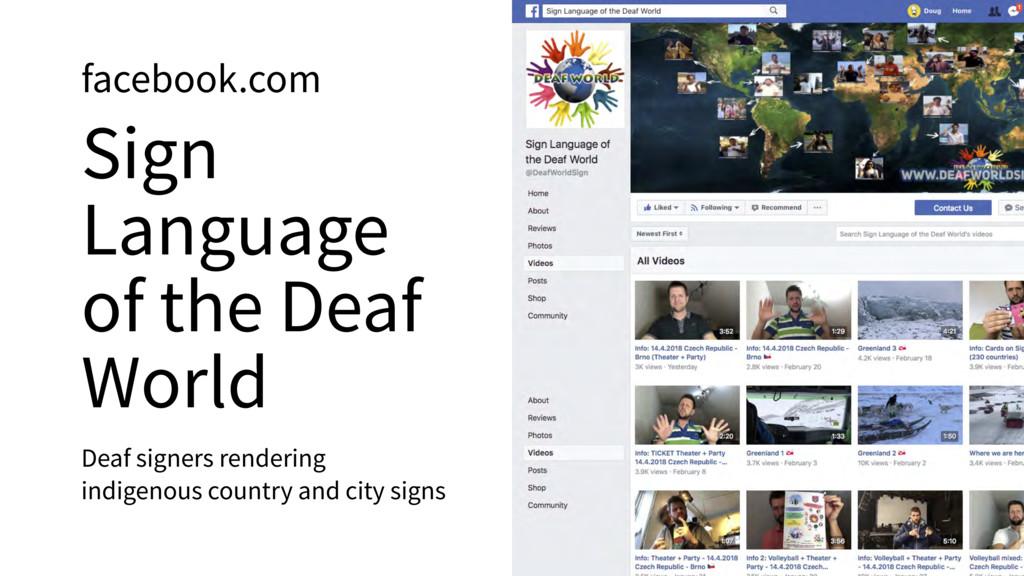 facebook.com Sign Language of the Deaf World De...