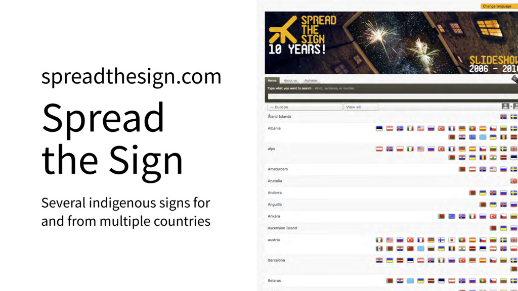 spreadthesign.com Spread the Sign Several indig...
