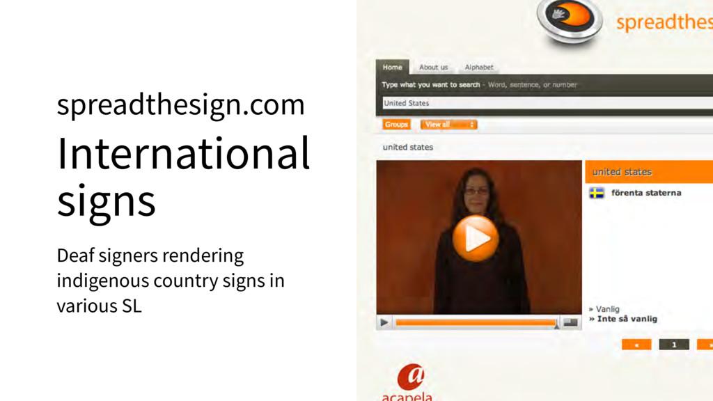spreadthesign.com International signs Deaf sign...