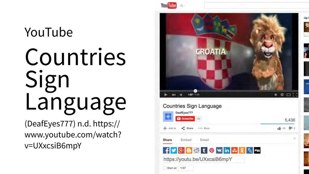 YouTube Countries Sign Language (DeafEyes777) n...
