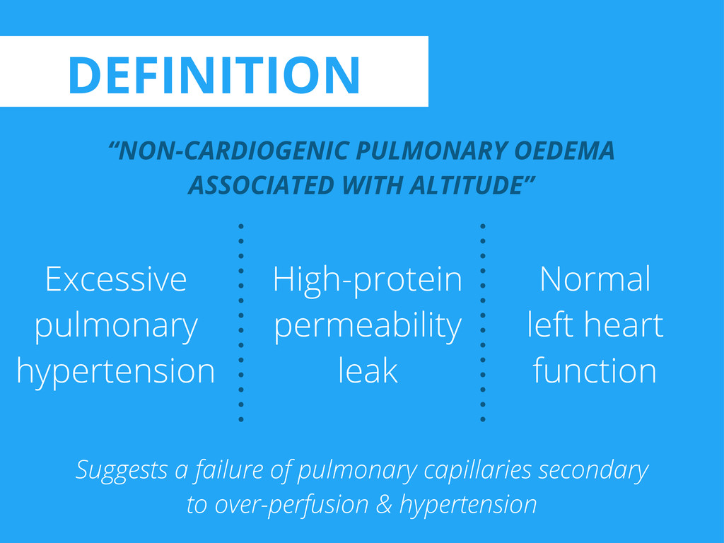 "DEFINITION ""NON-CARDIOGENIC PULMONARY OEDEMA AS..."