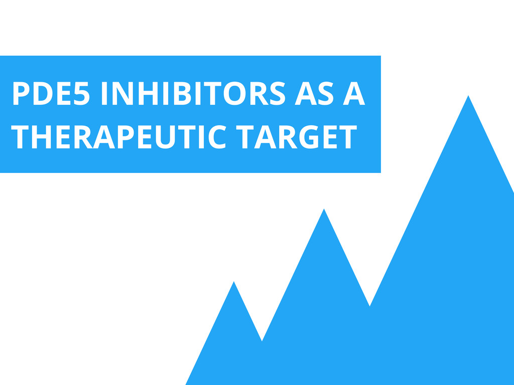 PDE5 INHIBITORS AS A THERAPEUTIC TARGET