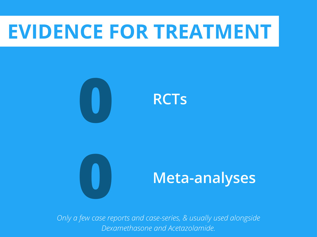 0 RCTs 0 Meta-analyses EVIDENCE FOR TREATMENT O...
