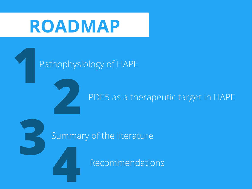 1 2 3 Pathophysiology of HAPE PDE5 as a therape...