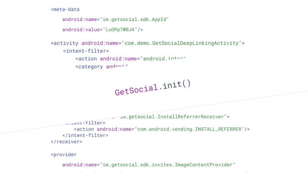 "<receiver android:name=""im.getsocial.InstallRef..."
