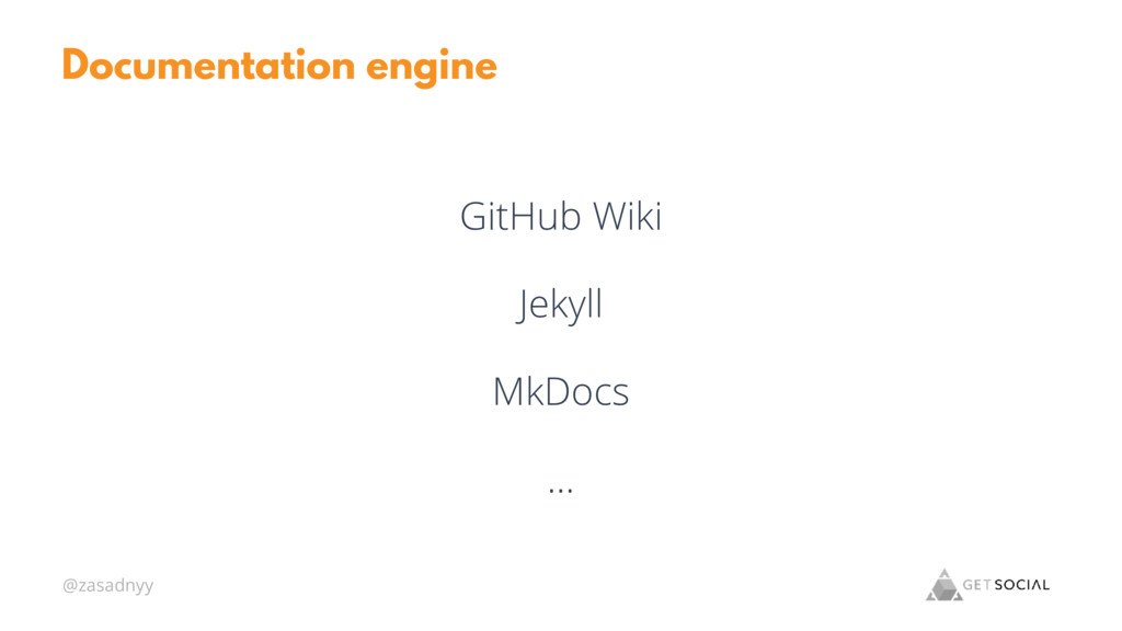 @zasadnyy Documentation engine GitHub Wiki Jeky...