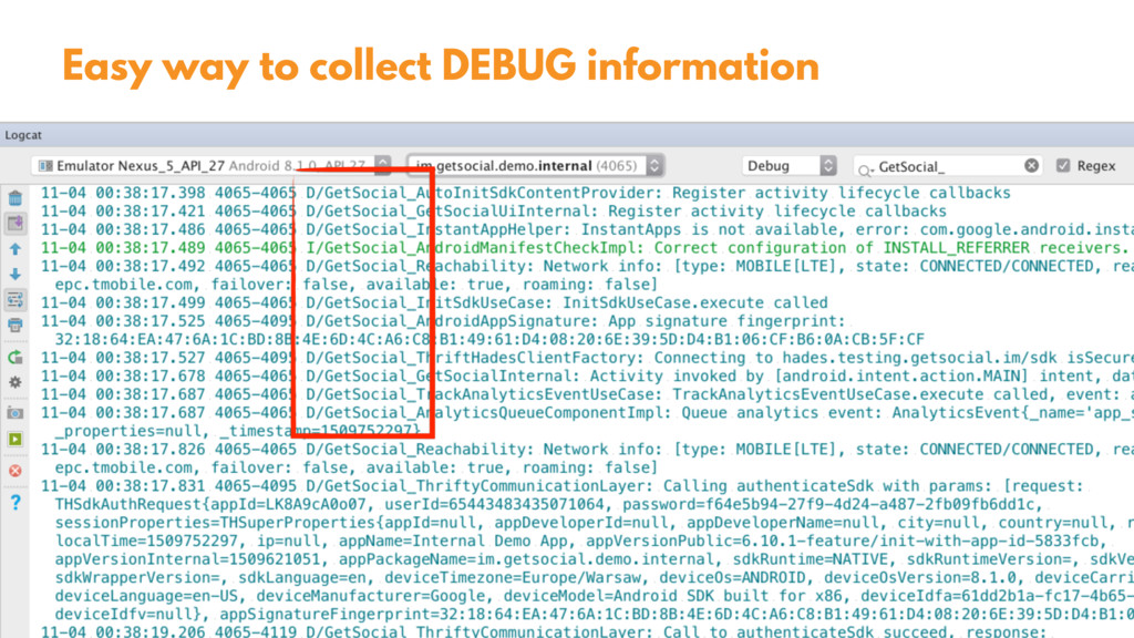 @zasadnyy Easy way to collect DEBUG information