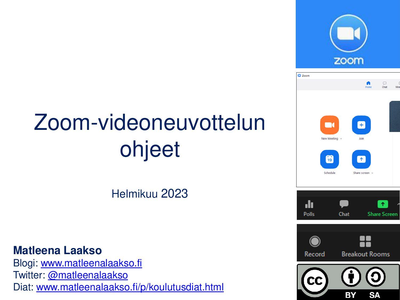 Zoom-videoneuvottelun ohjeet Syyskuu 2020 Matle...