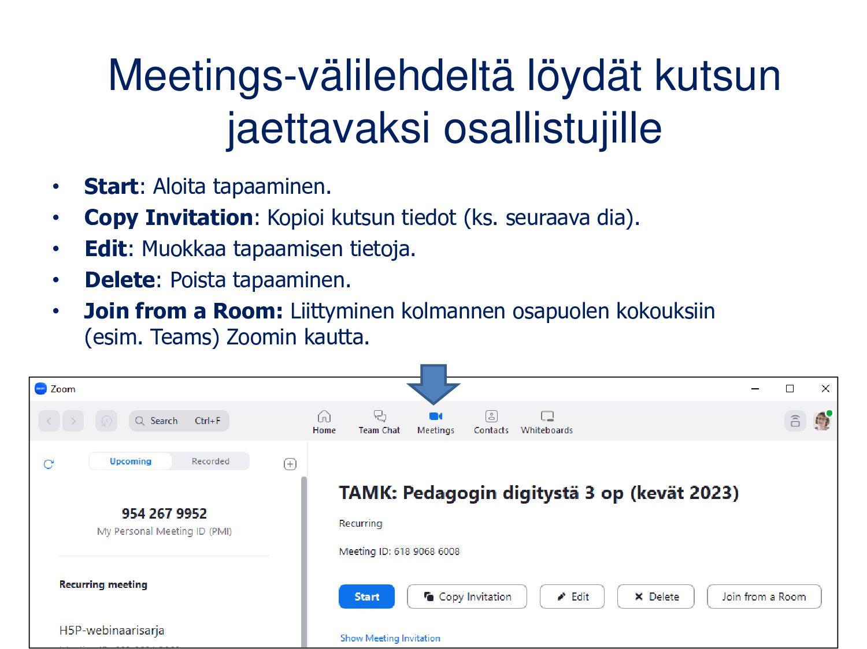 Osallistuja: kun tapaaminen alkaa • Avaa kutsu ...