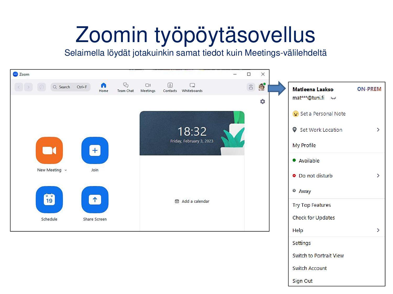 Zoomin työpöytäsovellus