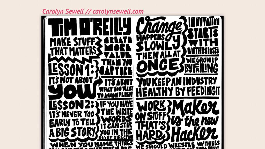 Carolyn Sewell // carolynsewell.com