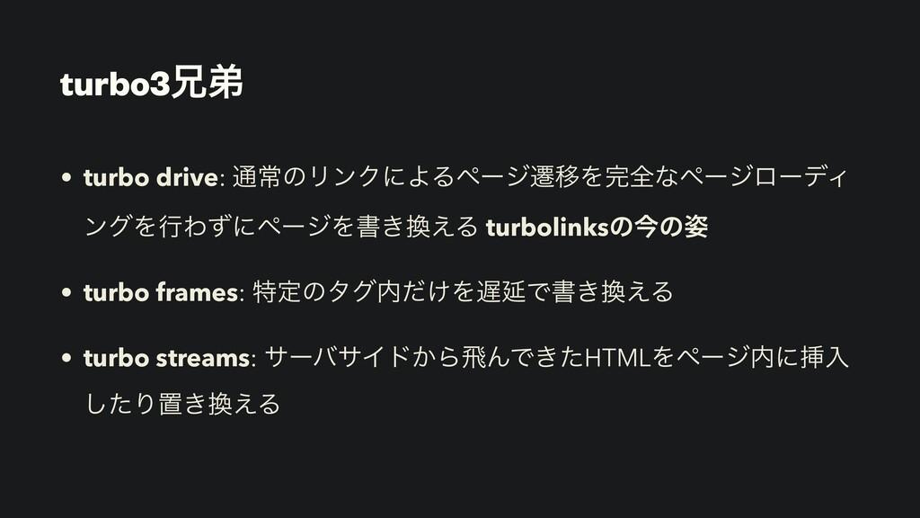 turbo3ܑఋ • turbo drive: ௨ৗͷϦϯΫʹΑΔϖʔδભҠΛશͳϖʔδϩʔ...