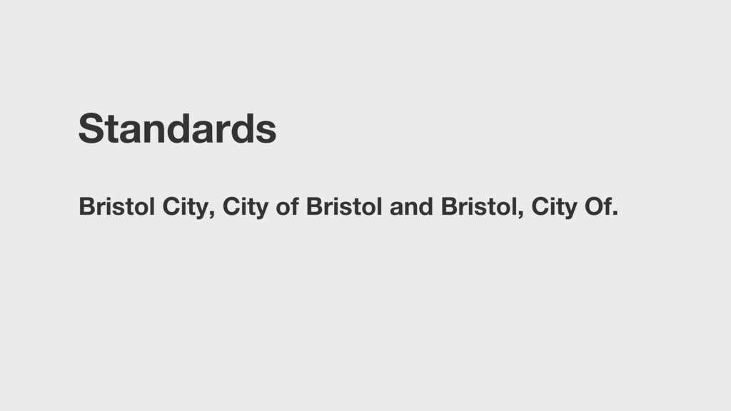 Standards Bristol City, City of Bristol and Bri...